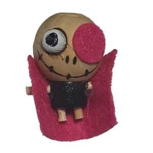 سرکلیدی چوبی عروسکی یک چشم