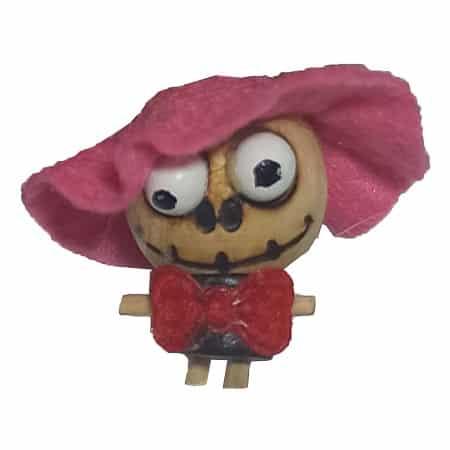 سرکلیدی چوبی عروسکی پرنس صورتی
