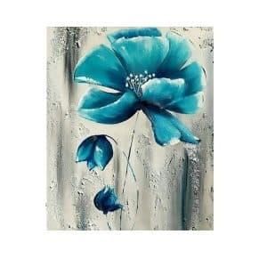 تابلو رنگ روغن دکوراتیو گل آبی